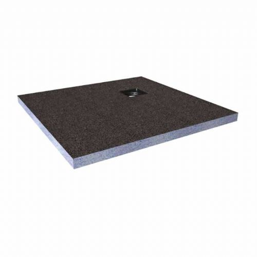 Abacus Elements Square Standard Shower Tray 40mm High With Corner Drain - 1000mm x 1000mm